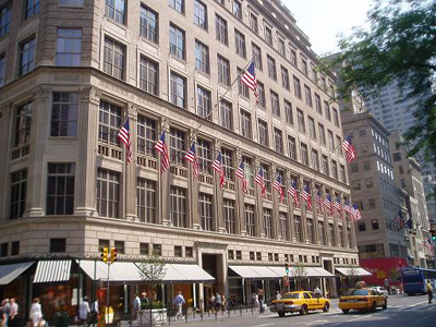 Saks Fifth Avenue, 611 Fifth Avenue, New York City, 10022 New York.