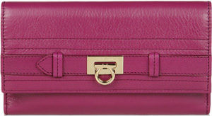 Salvatore Ferragamo Continental Wallet in Calfskin: US$495.