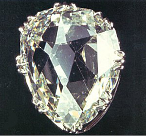 The Sancy, a pale yellow diamond of 55.23 carats (11.046 g).
