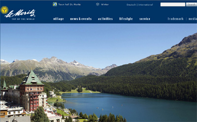 St. Moritz Tourist Board's Official Site.