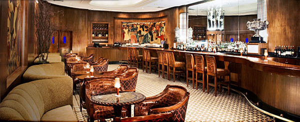 The Sazerac bar at The Roosevelt hotel, 123 Baronne St.