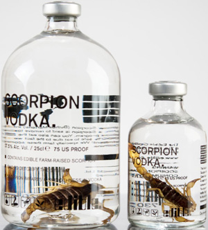 Scorpion vodka.