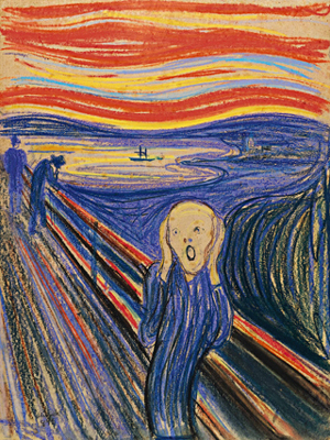 The Scream (1895) by Edvard Munch.