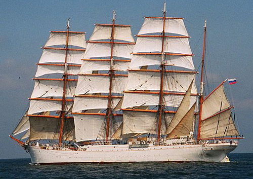World's biggest sailboat: Sedov.