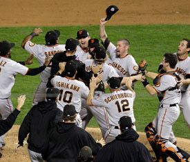 Giants win the Series 2010.