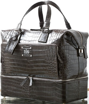 Massimo Sforza Men's Genuine Crocodile Travel Bag.