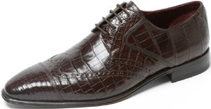 Massimo Sforza Men's Genuine Crocodile Shoe.