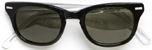 Shuron X Band of Outsiders Freeway model sunglasses with exclusive black frame and crystal arm color: US$250.