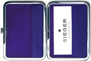 Sieger Card case, closable - Sieger Purple: €149.