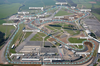 Silverstone Circuit, Silverstone, Northamptonshire (part) and Buckinghamshire (part), England, U.K.