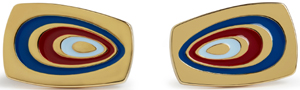 Simon Carter 70s Swirl | Red Cufflinks: £75.