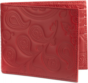 Simon Carter Paisley pattern embossed jeans wallet: £75.