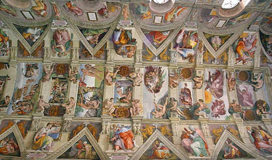 Sistine Chapel ceiling (1508-1592 by Michelangelo.