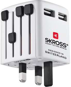 Skross World Travel Adapter - 'Adapt To The World'.