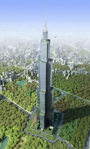 Sky City, Changsha, Hunan in south-central China.
