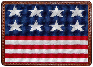 Smather & Branson Old Glory Needlepoint Card Wallet: US$55.