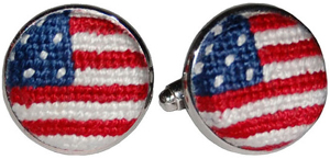 Smathers & Branson Old Glory Needlepoint Cufflinks: US$55.