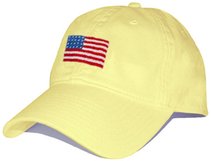Smathers & Branson American Flag Needlepoint Hat (Butter): US$35.