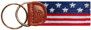 Smathers & Branson Old Glory Needlepoint Key Fob: US$28.50.
