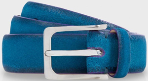 Paul Smith Petrol Blue Suede Suit Men's Belt: €135.