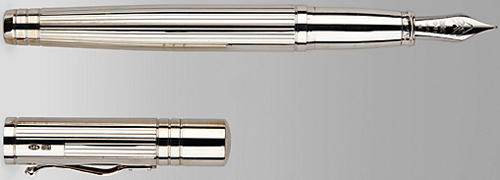Smythson of Bond Street Sterling Silver Viceroy Grand Fountain Pen: £595.