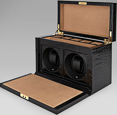 Smythson of Bond Street Alligator Skin Rotary Watch Box: £9,500.