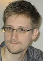 American whistleblower Edward Snowden.