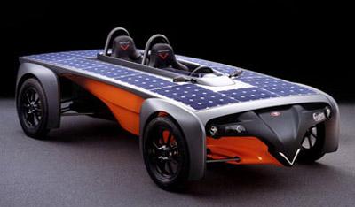 Solar vehicle.