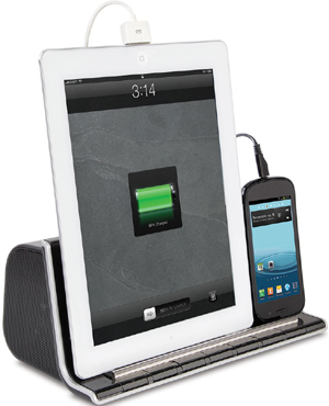 Hammacher Schlemmer - The Smartphone and Tablet Charging Speaker Dock.