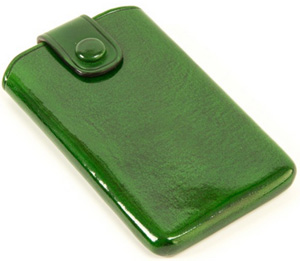Oliver Spencer Il Bussetto Tabbed Card Holder Green: £45.