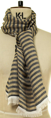 Oliver Spencer Breton Men's Scarf Navy: £20.