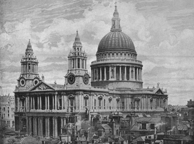 St. Paul's Cathedral (London, England) by Christopher Wren (1708).