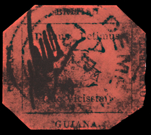 The British Guiana 1c magenta is regarded by many philatelists as the world's most famous stamp.