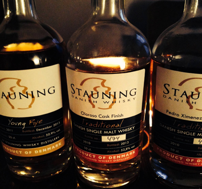 Stauning Whiskies.