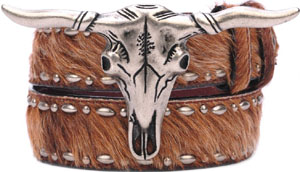 Stetson Longhorn Buckle in Brown Belt: US$88.