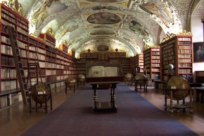 Library of Strahov Monastery: The Theological Hall, Prague, Czech Republic.