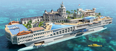 The Streets of Monaco by Yacht Island Design.