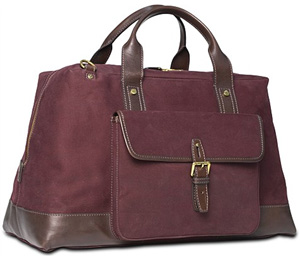 Suitsupply Dark Red Duffel Bag: €249.