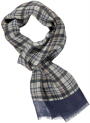 Suitsupply Blue Check Men's Scarf: €39.