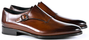Suitsupply Brown Monk Strap men's shoes: €189.