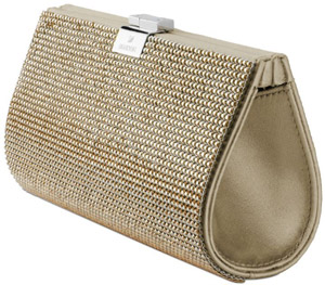 Swarovski New Power Mesh Gold Evening Bag: US$600.