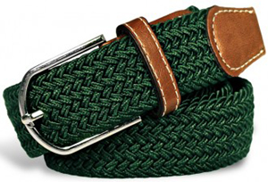 Tailor4Less sport green leather & polyester men's belt: US$25.