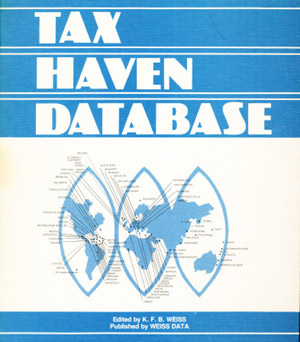 The TAX HAVEN DATABASE by TheInternationalMan.com founder Kim Weiss.