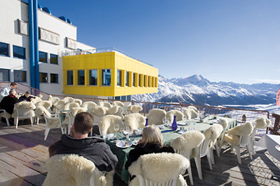 Restaurant Terrazza at Mathis Food Affairs, Corviglia.