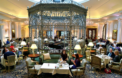 Thames Foyer Afternoon Tea at The Savoy hotel, The Strand, London WC2R 0EU, England, U.K.