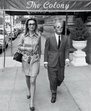 Lee Radziwill and Truman Capote outside the Colony, 1968.