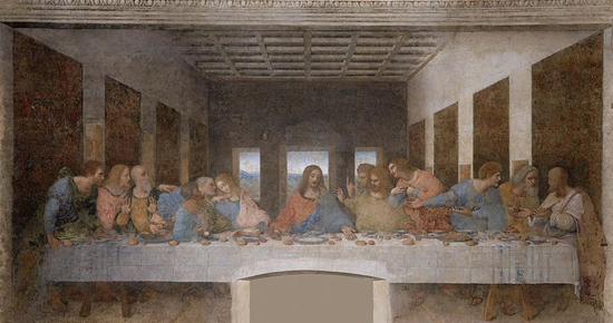 The Last Supper (1495-1498) by Leonardo da Vinci.