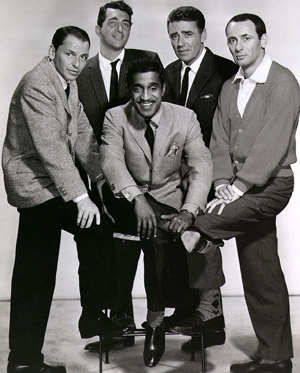 The Rat Pack: Frank Sinatra, Dean Martin, Sammy Davis, Jr., Peter Lawford & Joey Bishop.