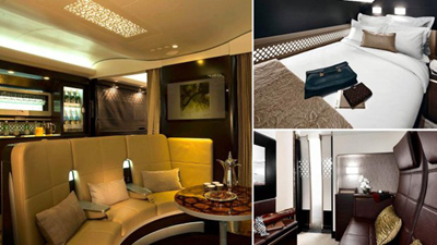 Etihad Airways 'The Residence' - onboard the A380.