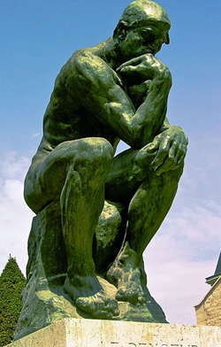 The Thinker (1902) by Auguste Rodin.